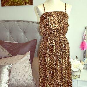 Express Leopard Maxi Dress